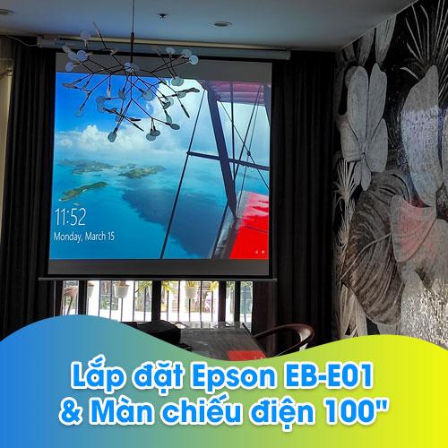 Lắp máy chiếu Epson EB-E01