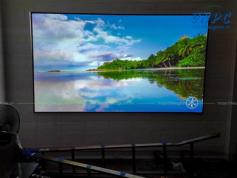 Lắp máy chiếu Optoma UHD52ALV và Màn chiếu khung VNPC