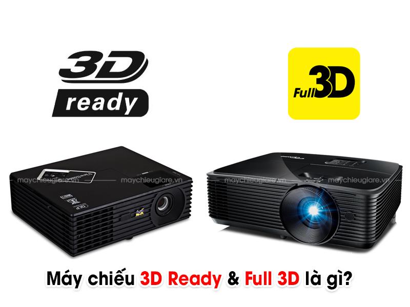 Máy chiếu 3D ready và Máy chiếu Full 3D