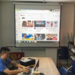 Lắp đặt máy chiếu Optoma PX390 tại văn phòng Công ty Việt Phát Hà Nội